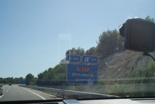 Almost there an AP7 sign for Benidorm