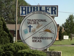 Buhler KS seal at their city park that the Freedom From Religion Foundation is threatening to sue over.