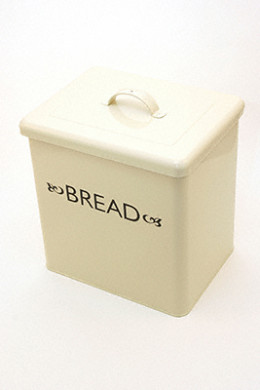 Large cream enamel bread bin