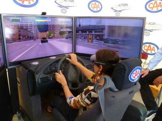 A drunk driving simulator in Montréal, Canada