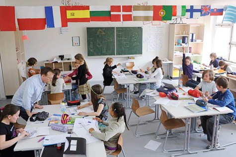 A classroom in Berlin