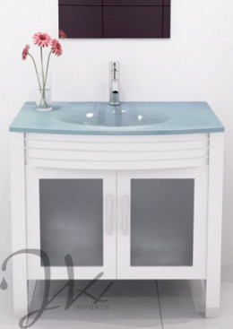 Glass vanity tops are in