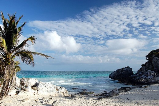 This beach near Tulum is a protected area for nesting sea turtles according to Wikipedia.