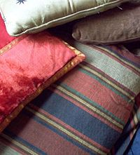 SEAT CUSHIONS perfect, but you live in the Rain Forest in a tent.
