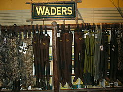 HIP WADERS perfect for hunting ducks, or fly fishing, but in Antarctica?