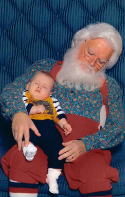 Nap time with Santa!