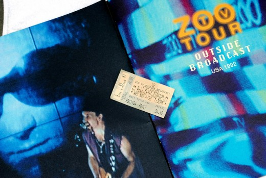 Shot from the ZooTV Spectacle, With Ticket Stub