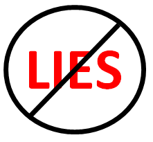 Avoid big, fat, juicy lies as they are easy to  remember even after the party has ended.
