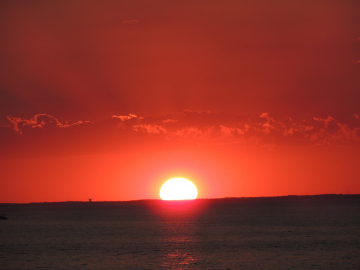 Sunset near Syracuse, New York