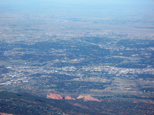 Colorado Springs - View from the top of Pikes Peak