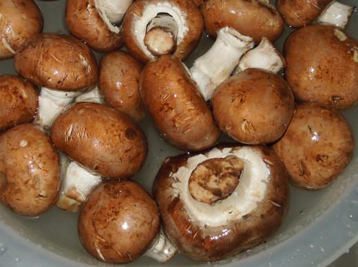 Baby Bella Mushrooms - make sure you wash the mushrooms before using them