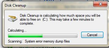 Fig 4 Disk cleanup