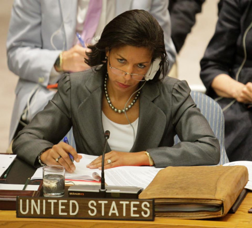 Ambassador Rice on the job at The U.N