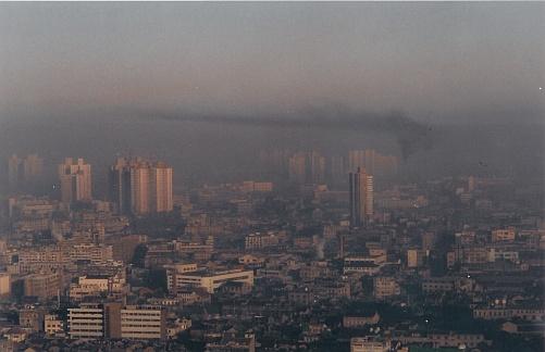 Smog in Shanghai