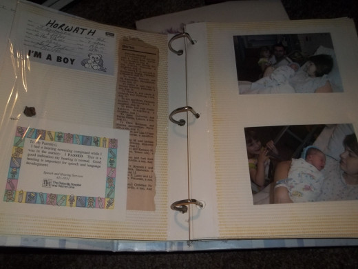 My first son's (my second child) memory book.