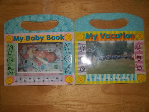 My Baby Book and My Vacation baby memory books.