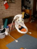 Best Infant and Baby Swing for Napping Ever: My Little Lamb Cradle Swing by Fisher Price