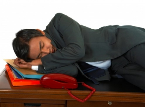 Falling asleep at work is never a good reason for promotion!