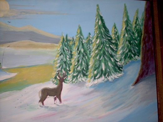 a deer hears the chorus singing