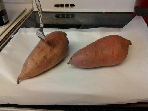 poke holes in the yams with a fork