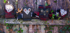 Make a Felted Wool Stuffed Owl From an Old Sweater