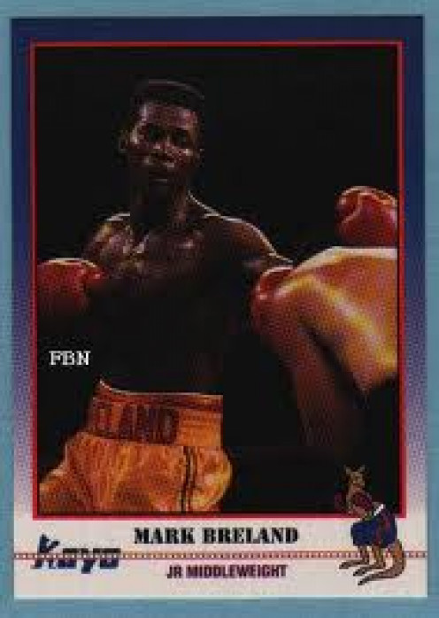 Mark Breland on a set of KO boxing cards. That was his second card from KO. Breland is considered by most to be the best American Olympian ever.