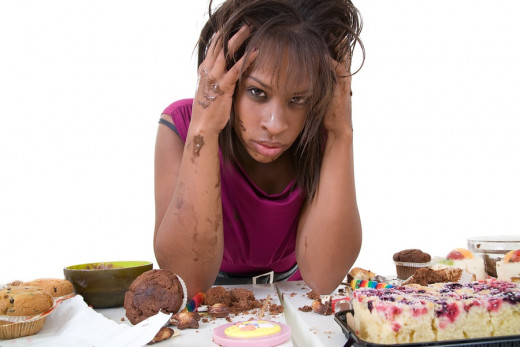 Binge eating is more common than any other eating disorder. Many people with this disorder say that being angry, sad, bored, worried, or stressed can cause them to binge eat.