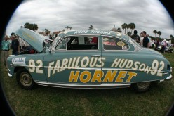 The much-lived Hudson Hornet, still wowing motor show crowds today.
