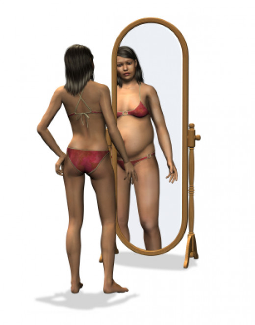 Of the anorexia signs, distorted body image is extremely common. Regardless of what the scale or the mirror shows those who suffer from anorexia see themselves as too fat