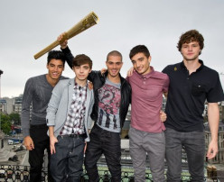 The Wanted supporting the Olympic Torch Relay
