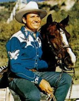 Gene Autry with his horse, Champion