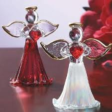 Angel tea-candle holders, Christmas treasures