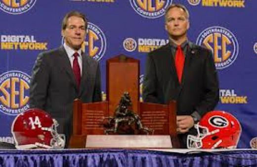 Nick Saban's Alabama Crimson Tide wins the SEC Championship  against Georgia 38-28