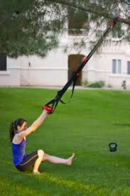 Assisted pistol on suspension trainer