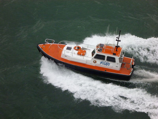 A pilot boat was photographed by Bboegler on January 2, 2012.