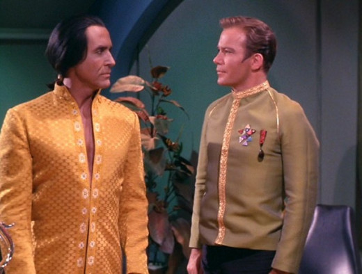 "Khan and Kirk meet in ""Space seed"" episode"