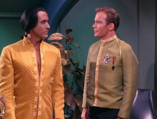 "Khan and Kirk meet in ""Space seed"" episode"