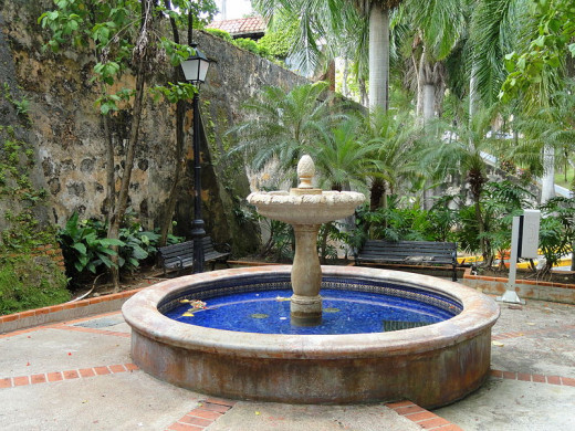 This fountain in Old San Juan was photographed by Daderot on October 22, 2011.