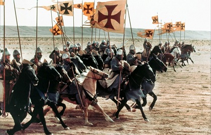 The Knights Templar battling in the Holy Land