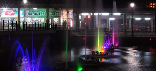 Night view of the Sector 17 Chandigarh .