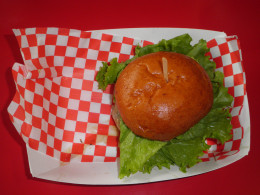 A Boulevard Burger hamburger at Castro Valley Ca.