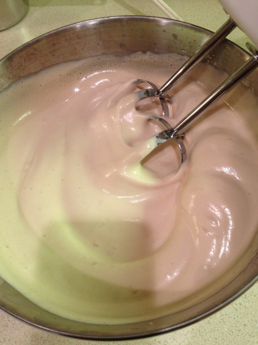 The mixture makes a dense, moist cake batter.