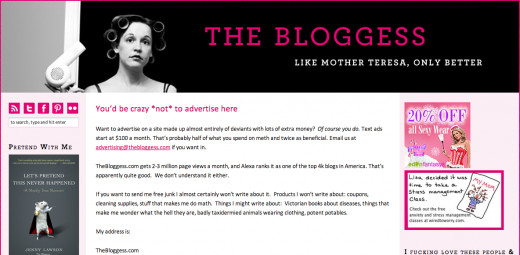 The Bloggess has a hilarious advertising page!