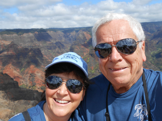 And here's a very recent picture of us in Hawaii at Waimea Canyon...another spot to cross of our list: Hawaii!