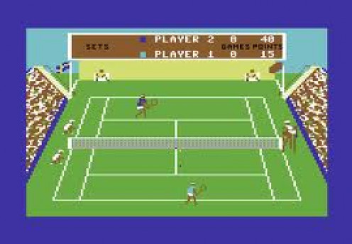 Commodore Tennis is a video game for the Commodore 64. The graphics were very nice for their time.