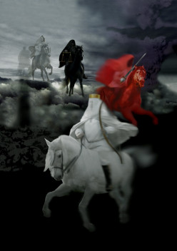Revelation 6:2 I looked, and there before me was a white horse! Its rider held a bow, and he was given a crown, and he rode out as a conqueror bent on conquest