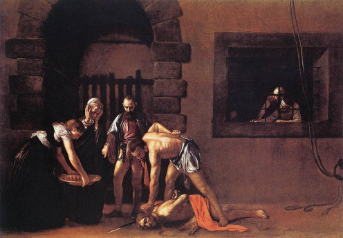 The Beheading of St John the Baptist, Caravaggio (1573-1610)