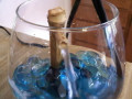 Making A Mini Indoor Fountain: Fountain In A Wine Glass