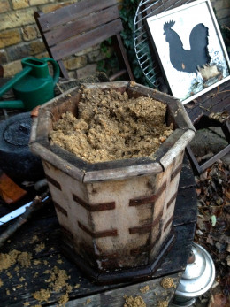 Fill your pot with sand