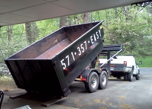 When all else fails, rent a dumpster once in a while from a local company.